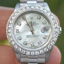 Rolex Ladies Datejust White Gold President Band Big Oversized...