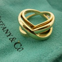 "Tiffany & Co. 18k Fashion ""x"" Ring Size 6. 15.3 Grams"