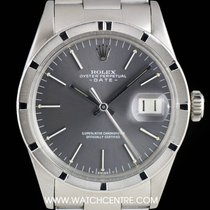 Rolex S/Steel Grey Dial Vintage Oyster Perpetual Date  B&P...