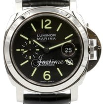 Panerai PAM 104 Luminor Marina Black 44mm Men's Stainless...