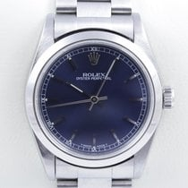 Rolex Oyster Perpetual Medium Mid Lady Stahl Blue Dial 31 mm