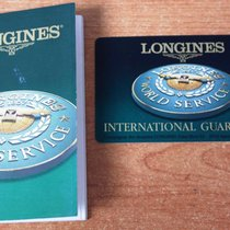 Longines vintage warranty card watch or chronograph and booklet
