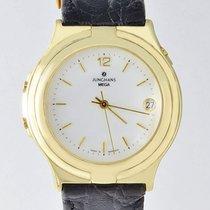 Junghans Mega 585 Gold Edition 25/9300 Funkuhr PAPIERE 1994