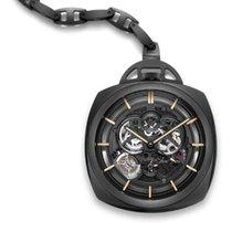 Panerai [NEW][LTD] Pocket Watch Tourbillon GMT Ceramica PAM 446