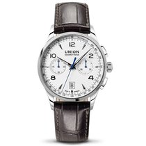 Union Glashütte Noramis Chronograph weiß Lederband