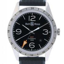 Bell & Ross Vintage BR 123 GMT 24H Stahl Kautschuk...