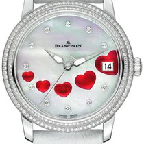 Blancpain Ladies Ultra Slim Automatic 34mm 3400-4554-58b St...