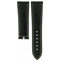 Breguet Black Crocodile Leather Strap 23mm/20mm For Marine...