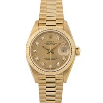 Rolex Datejust President Ladies 18k Diamond Dial, 69178 (Papers)