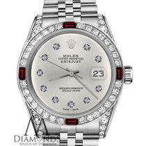 Rolex Ladies Rolex 26mm Datejust Silver Color Dial With Ruby...