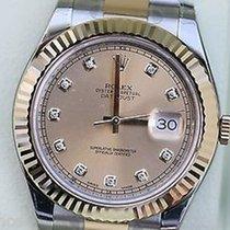 Rolex New Rolex Datejust Ii Mens Two Tone Gold Steel Diamond...