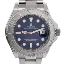 Rolex 116622 Yachtmaster Platinum Blue Dial Mens Watch