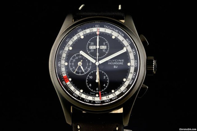 b584a21f041 Glycine - Incursore Black Jack Chronograph Limited Edition -... for Php  143