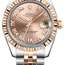 Rolex Datejust 31mm Stainless Steel and Rose Gold 178271 Pink...