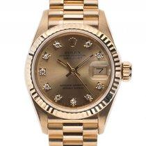 Rolex Datejust Lady 18kt Gelbgold Diamond Automatik Armband...