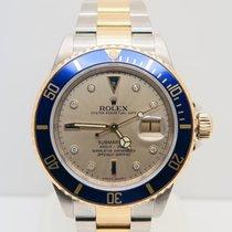 Rolex Submariner Date Serti Diamond Dial 18k Gold Steel