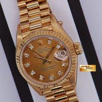 롤렉스 (Rolex) Oyster Datejust Ladies 18k Yellow Gold White Ref...