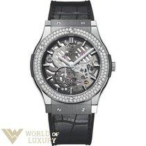 Hublot Classic Fusion Ultra-Thin Titanium Diamonds Men's...