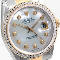 Rolex 36mm Datejust Custom  MOP & CH Set Diamond Bezel...