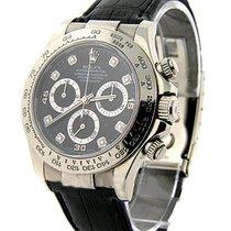 Rolex Unworn 116519 White Gold DAYTONA on Strap 116519 - Black...