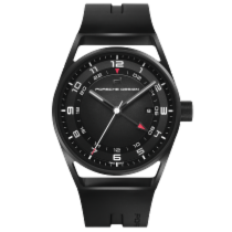 保時捷 (Porsche Design) 1919 Globetimer Black & Rubber