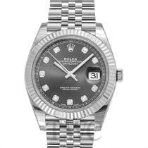 勞力士 (Rolex) Datejust 41Dark Rhodium Steel/18k White Gold Dia...