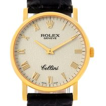 Rolex Cellini Classic 18k Yellow Gold Anniversary Dial Watch 5115