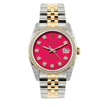 Rolex Datejust Men's 36mm Pink Dial Gold And Stainless...