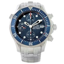 Omega Seamaster Bond Chronograph Blue Dial Mens Watch 2599.80.00