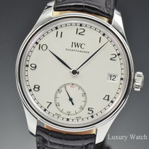 IWC Portuguese Hand-Wound Manual Wind Eight Days Steel IW510203
