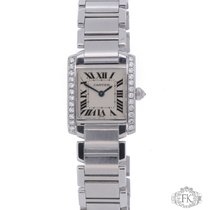 Cartier Tank Francaise Diamond Set | Stainless Steel Ladies Size