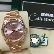 Rolex Cally - 118235 Pink Roman Dial Day Date 18K rosegold [NEW]