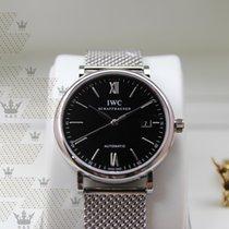 IWC IW356506 Portofino Black Dial Steel Bracelet