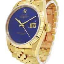 Rolex 18K Gold Oyster Perpetual Datejust 16018, Lapis Lazuli Dial
