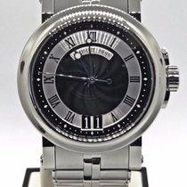 Breguet Marine Big Date 5817st/92/svo Black Dial On Bracelet...