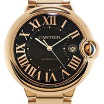 Cartier W6920036 Ballon Bleu 18k Pink Gold Men's Chocolate...