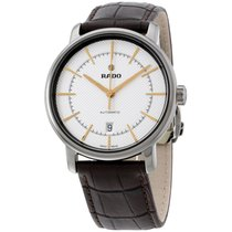 Rado White Dial Brown Leather Strap Men's Watch R14074096