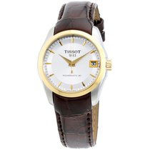 Tissot Silver Dial Leather Strap Ladies Watch T0352072603100