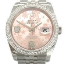 Rolex Datejust Flowers Diamonds Dial Aftermarket Box/Papers