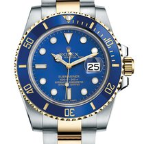 Rolex Submariner Blue Two Tone 18K/SS Blue Ceramic 116613LB