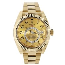 Rolex SKY-DWELLER 42mm 18K Yellow Gold Watch UNWORN 2017