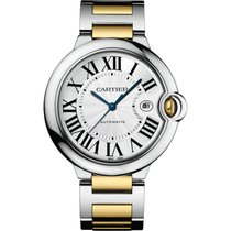Cartier Ballon Bleu 42mm Steel & 18K Yellow Gold Watch...