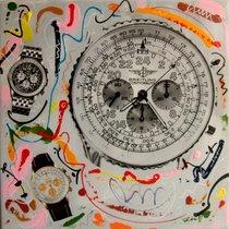 Breitling tableau peinture  pop art cosmonaute