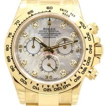 Rolex Cosmograph Daytona 116508 White Mother of Pearl Diamond...