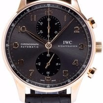 IWC IW371482 Portuguese Automatic Chronograph ROSE GOLD Grey Dial