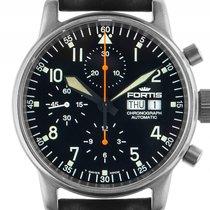 Fortis Flieger Chronograph Stahl Automatik Armband Leder 40mm...