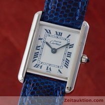 Cartier Lady Must De Tank Silber Elegante Damenuhr Karrée Design