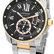 "Cartier & 18K Rose Gold ""Calibre de Cartier Diver""."