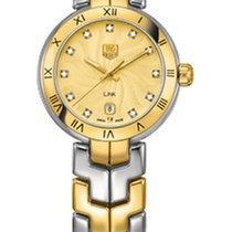 "TAG Heuer Link Lady Quartz Champagne ""guilloche"" dial"