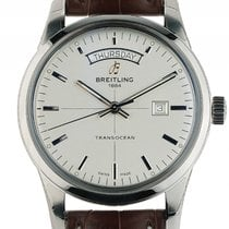 Breitling Transocean Day & Date Stahl Automatik Armband...